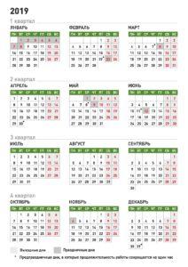 Производ.Календарь 2019